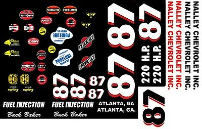 #47 Jack Smith Nalley Chevrolet 1//32nd Scale Slot Car Waterslide Decals
