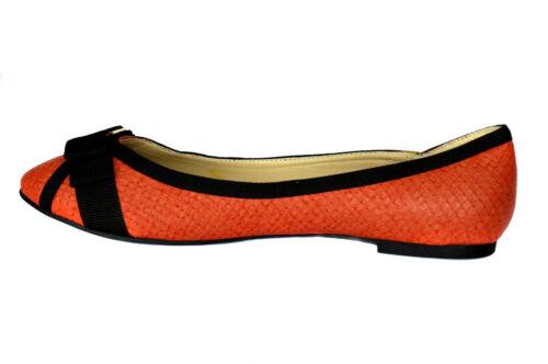 Damen Ballerinas Halbschuhe Slipper Leder Optik Rot Gr.36-41 A.13