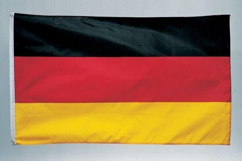 2 Tattoos Deutschland Fahne deutsche National Flagge 150 x 90 cm mit Schlaufe