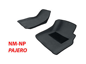 To-suit-Mitsubishi-Pajero-NM-NP-2000-06-MOULDED-3D-CONTOUR-FIT-Front-Floor-Mats