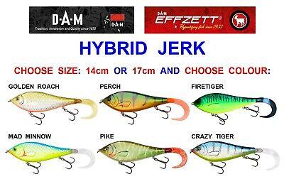 1 x Shakespeare Pike Fishing Predator Big S Mega S Midi S Mini S Jerk Bait Lures