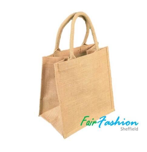 Large Medium Small Natural Bags Wholesale Jute Hessian Shopping Bag