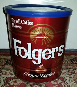 Folgers Can THE BIG LEBOWSKI For All Coffee Makers 39 Oz Holy Grail Urn Tin