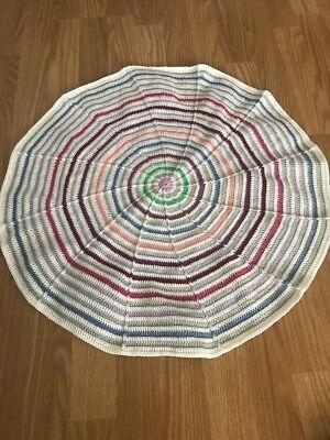 Baby Decke Selfmade 100 % Baumwolle Rund Durchmesser Ca 60 Cm