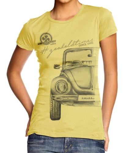 Oldtimer VOLKSWAGEN COCCINELLE T-Shirt Baumwollmischung Femmes Jaune