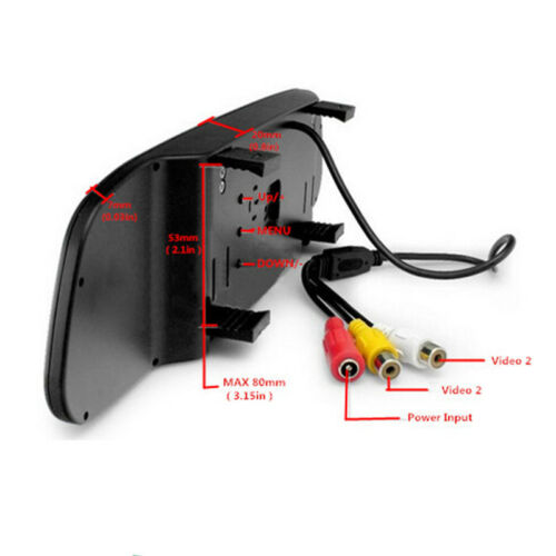 Car 4 LED Reverse Parking Camera Vision 4.3/'/'LCD Rearview Mirror Monitor Display