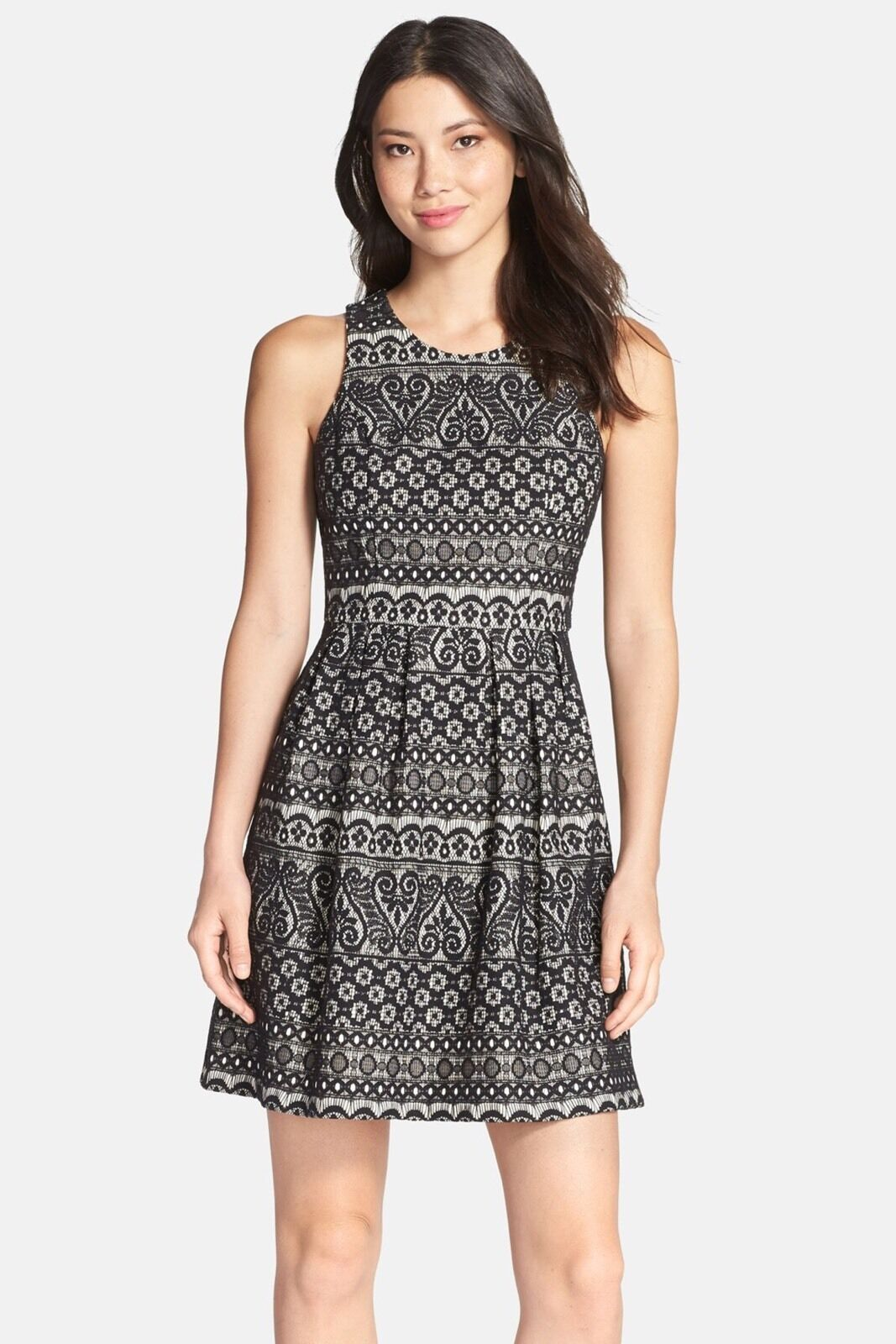 Kaya & Sloane Women's Lace Fit and Flare Dress - Size XS