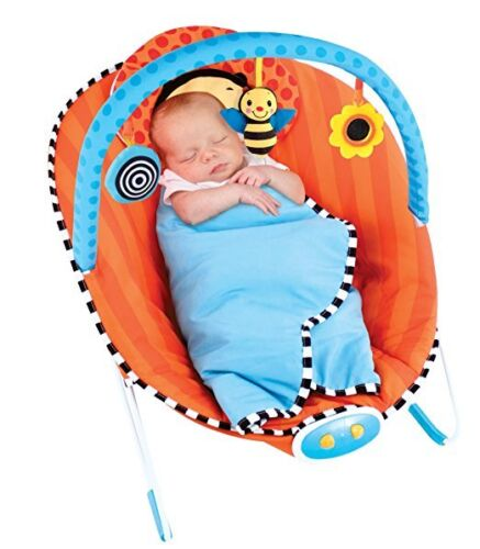 Whimsical Bumble Bee  Bouncer Baby Bouncer Sassy Cuddle Bug Built in Blanket