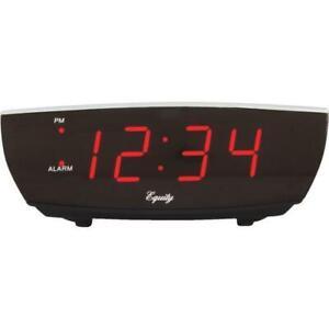 Portable Mirror Alarm with Dual Alarm Snooze Time 4 Levels Adjustable Brightness Dimmer 13 Music USB Charging Port for Bedside HOMVILLA Digital Alarm Clock with Big LED Temperature Display Bedroom