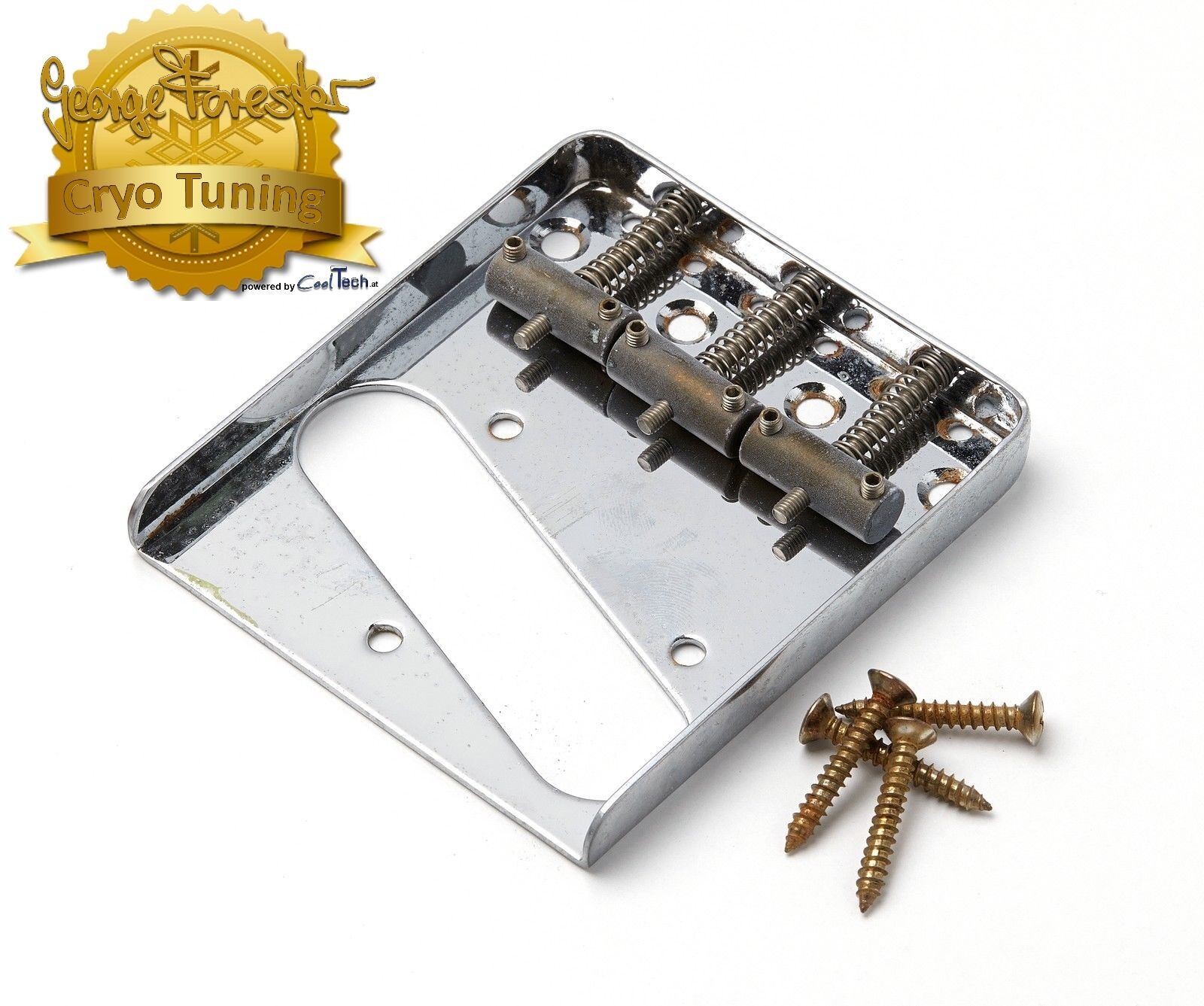 Aged Tele Bridge Chrome CRYO TUNED Montreux Retrovibe fits to Tele ®