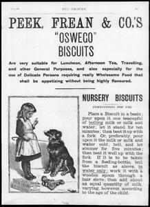 1895-Antique-Print-ADVERTISING-PEEK-FREAN-OSWEGO-NURSERY-BISCUITS-043