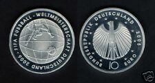 manueduc  ALEMANIA  2005  10 Euros  PLATA   925 mm.  Futbol FIFA 2006  NUEVA