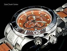 Invicta 48mm Grand Diver WOOD Dial Quartz Chronograph Wood Insert Bracelet Watch