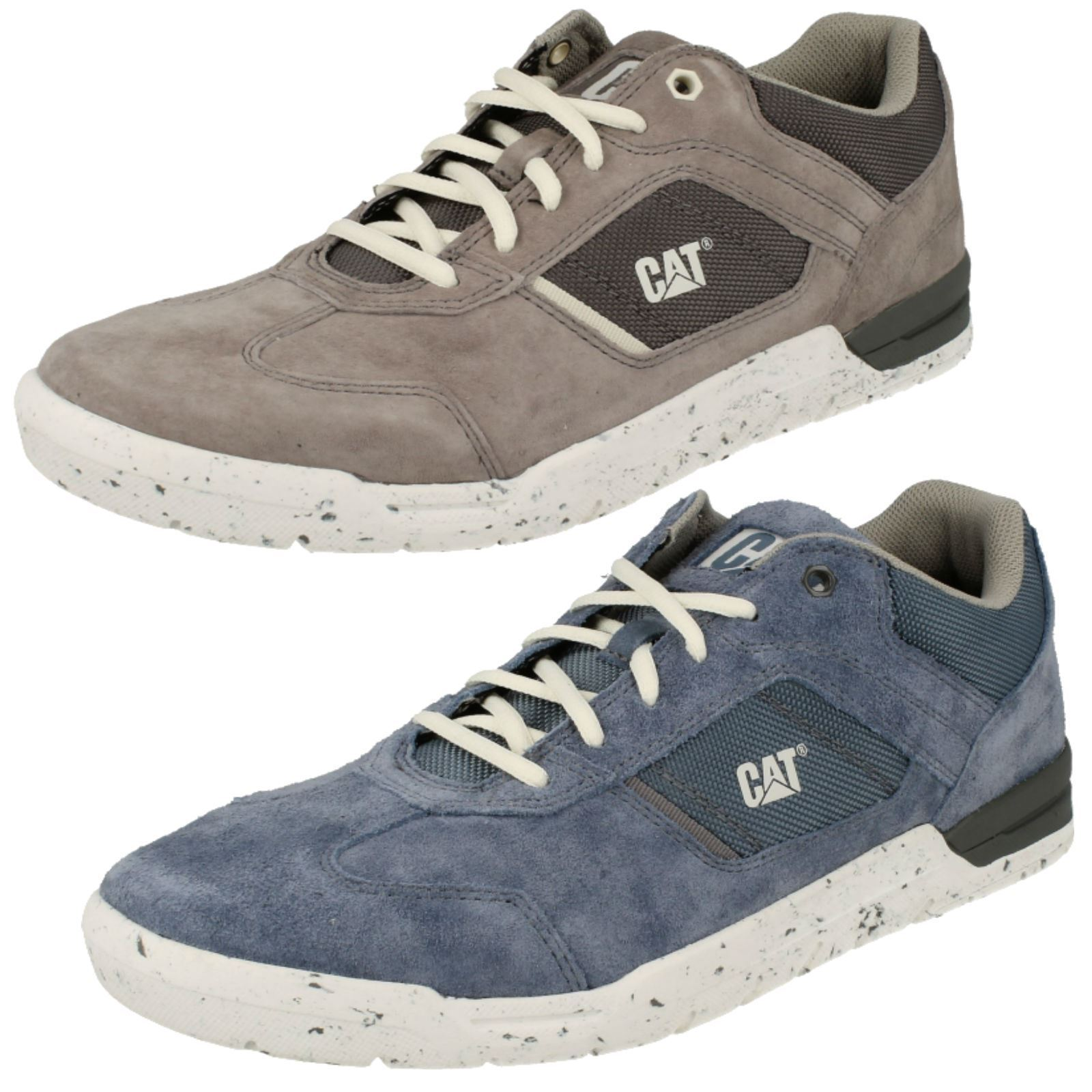 Caterpillar 'Chasm' Men's Leather Suede and Textile Lace Up Casual Trainers