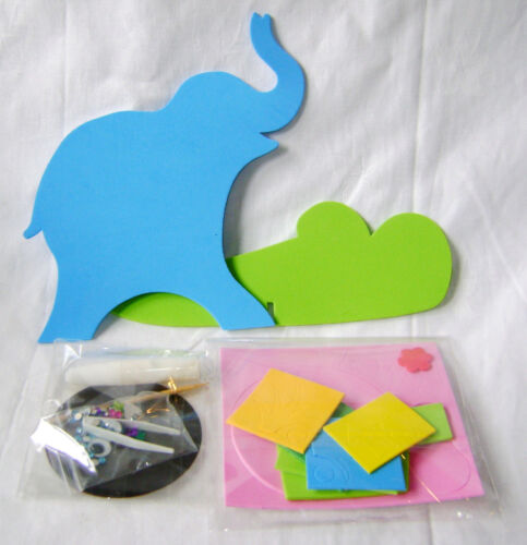 NEW MAKE YOUR OWN EVA FOAM PLAY CLOCK ELEPHANT CRAFT KIT SET 10035 WINGO