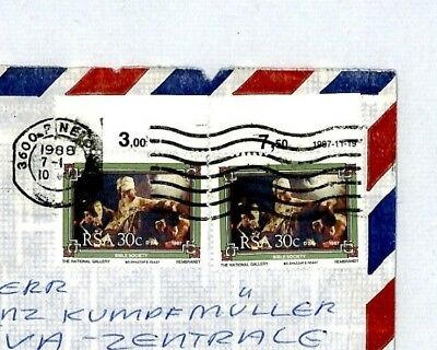 Net Cm48 1988 South Africa Cover Missionary Air Mail Miva Covent
