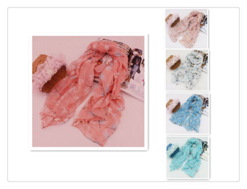 Dragonfly Lady Women Fashion Soft Scarf Scarves Shawl Neck Wrap Headscarf Stole