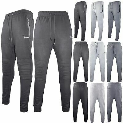 Mens Fleece Slim Fit Bottoms Track Pants Casual Joggers Jogging Slim Trousers