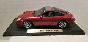 Maisto-Porsche-911-Targa-1-18-escala-Diecast-Modelo-Coche-Rojo-1998