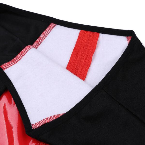 Damen Glänzend Lack Leder Hot Pants Booty Shorts mit Reißverschluss im Schritt
