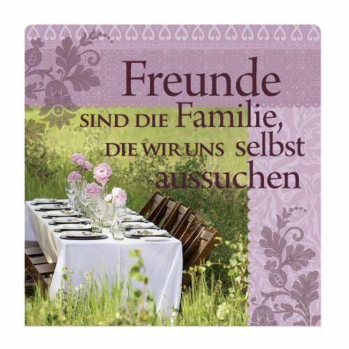 H/&H Romantik Geschirrtuch Handtuch FREUNDE sind die FAMILIE die wir.. // 02