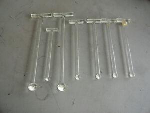 WHEATON-TISSUE-GRINDER-GLASS-PESTLE-USA-Lot-of-7