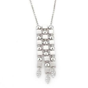 bc2cd1397968 La foto se está cargando Bvlgari-Bulgari-LUCEA-Diamonds-18k-White-Gold-Long-