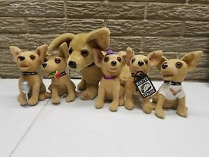 """New Taco Bell Promotional 6/"""" plush TALKING CHIHUAHUA DOG assorted no sound"""