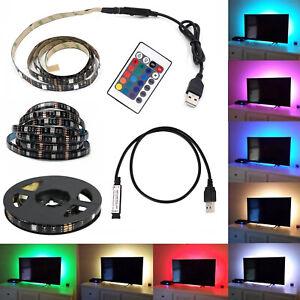 PDR-KIT-TV-STRISCIA-STRIP-LED-USB-RGB-5V-PER-RETROILLUMINAZIONE-2Mt-3-Mt-5Mt