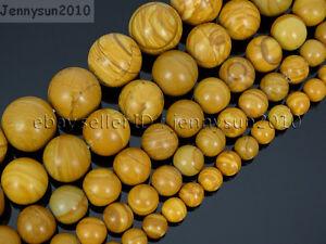 Natural-Wood-Grain-Jasper-Gemstone-Round-Beads-16-039-039-4mm-6mm-8mm-10mm-12mm-14mm