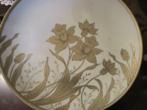ANTIQUE-PRUSSIA-P-DONATH-SILESIA-GOLDEN-FLOWERS-TRAY-12-034-c1910s-203