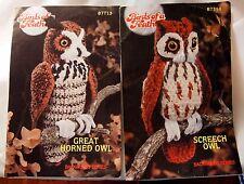 Great Horned Owl & Screech Owl Annie's Birds of a Feather crochet patterns