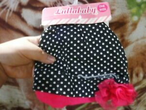 CLOSEOUT-SALE-Imported-FROM-USA-Lullababy-2-Pc-Bonnet-Polka-Dots-amp-Pink-1