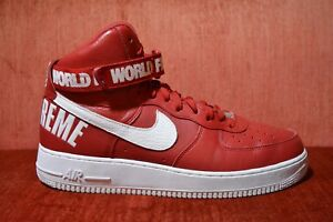 size 40 9466e 0a227 Details about CLEAN NIKE AIR FORCE 1 HIGH SUPREME SP World Famous RED SIZE  13 698696 610