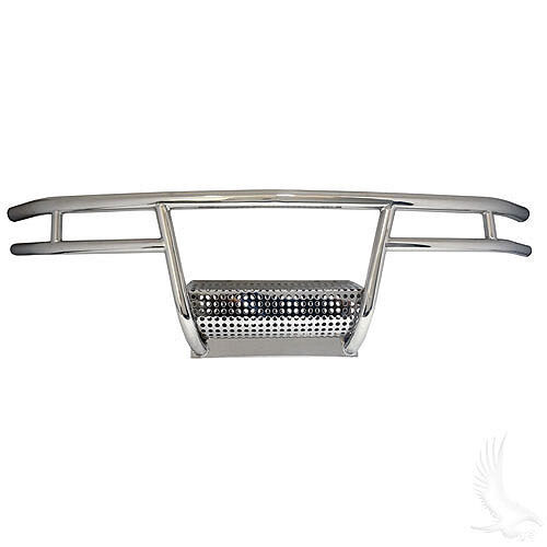 Club Car DS Golf Cart Stainless Steel Brush Guard w/Steel Bumper(r)