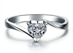 Ring-Silber-Zirkonia-Kristall-Verlobungsring-Liebe-Herz-Damen-Geschenk-Neu