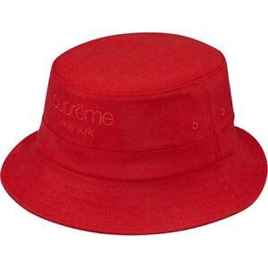 1553036816694 SUPREME Wool Herringbone Crusher Red S M box logo camp tyson pcl ...