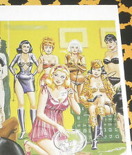 Eric STANTON Fetisch Kult Erotik Postkarte Akt Bdsm Zeichnung Domina Verlosung