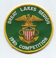 """Patch: USNSCC, 1989 GREAT LAKES REGION, (4"""" in diameter), Navy, Sea Cadets Corps"""