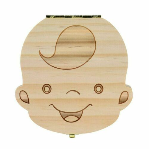 Personalized Wooden Tooth Storage Box Childs Keepsake Baby Teeth Save Organizer