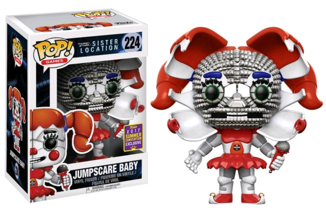 Five Nights at Freddy`s Sister Location Jumpscare Baby Pop! Vinyl SDCC 2017 FNAF