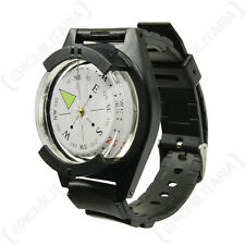 NEW Tactical WRIST COMPASS - Military Outdoor Survival Watch Strap Band Bracelet