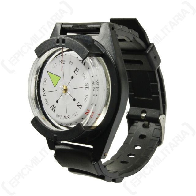 Tactical WRIST COMPASS Military Outdoor Survival Watch Strap Band Bracelet AUC1