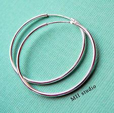 925 Sterling Silver 24mm Kidney Ear Wires 6pcs  #5209-3