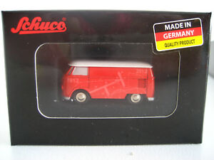 S-31-SCHUCO-Piccolo-Modell-Auto-1-90-VW-T1-Kasten-Bus-Wunder-der-Technik-OVP