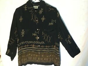 Chico-039-s-Design-Tribal-Art-Long-Sleeve-Button-Front-Tunic-2-M