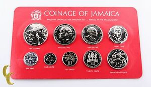 1980-Coinage-of-Jamaica-Brilliant-Uncirculated-BU-Specimen-Set-9-pcs