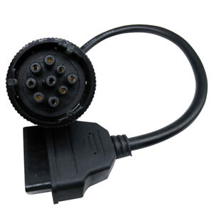 International Truck J1939 J1708 Round 9Pin to OBD2 16Pin Adapter Connector Cable