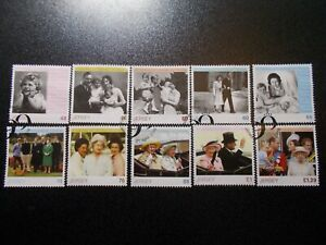 GB-Jersey-2016-Commemorative-Stamps-QEII-90th-Very-Fine-Used-Set-UK-Seller