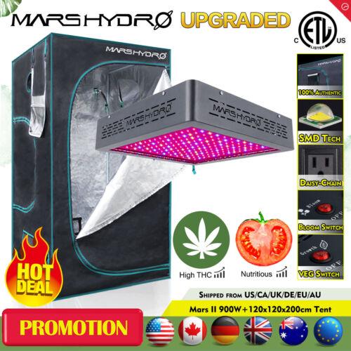 "48/""x48/""x78/"" Hydroponique Grow Tent Réfléchissant Mylar Mars II 900 W DEL Grow Light"